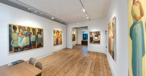 'Pillars of Life' Installation at Cromwell Place. Image courtesy of Lucy Emms and Addis Fine Art.