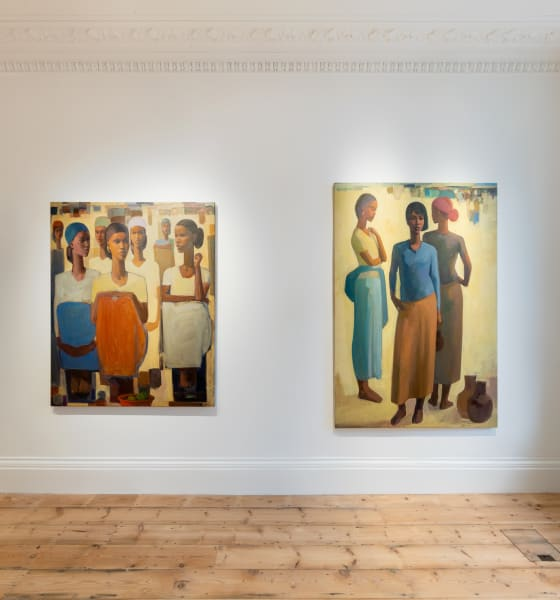 Tadesse Mesfin , Pillars of Life at Cromwell Place. Image courtesy of Lucy Emms and Addis Fine Art