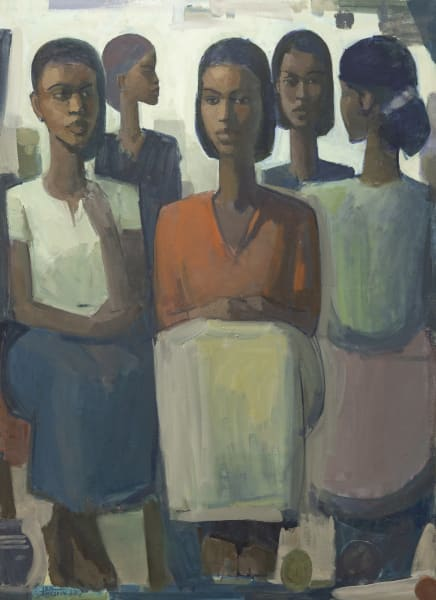 Tadesse Mesfin, Pillars of Life: My Sister's Keeper, 2019, Courtesy of the Artist and Addis Fine Art