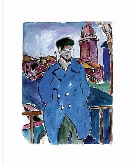 Man On A Bridge (blue)