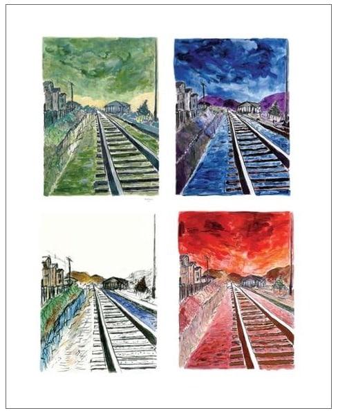 Train Tracks (set of 4 - medium format)