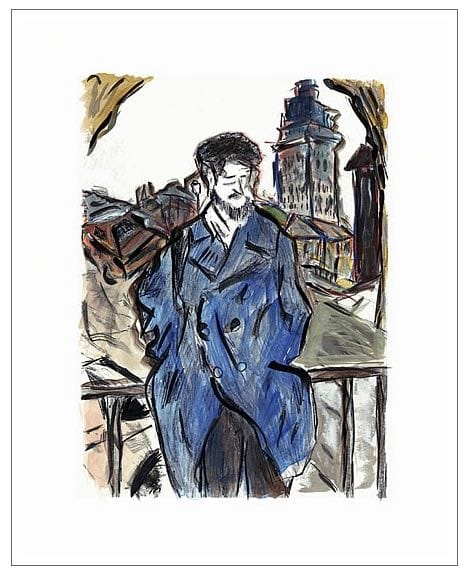 Man On A Bridge (dark blue)