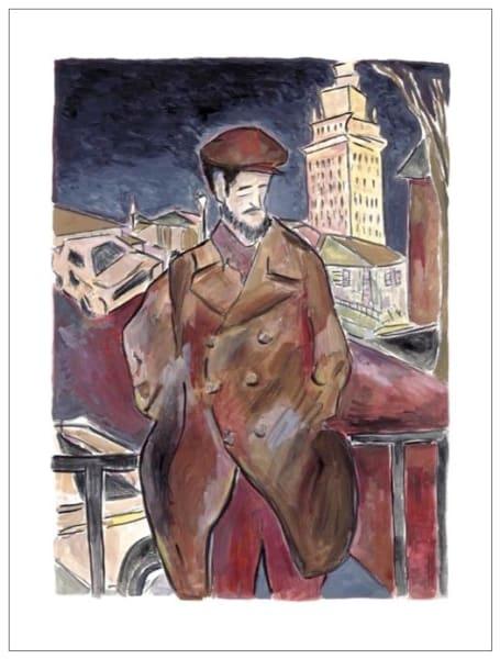 Man On A Bridge (large format)