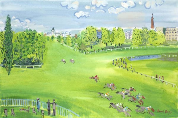 The Racecourse At Longchamps