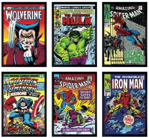 Marvel Superheroes - Portfolio of 6 boxed canvas, 2016