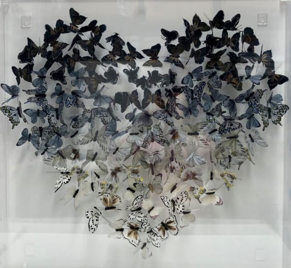 Grey Ombre Heart