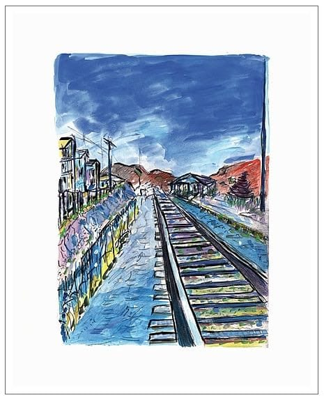 Bob Dylan, Train Tracks (blue) , 2008 - CALL FOR PRICE