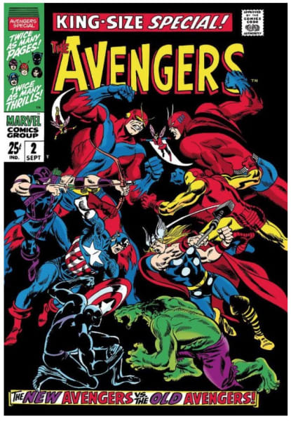 The Avengers - King-Size Special #2 (canvas)