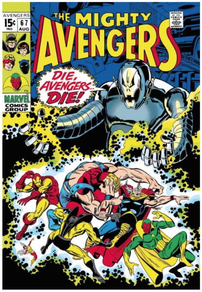 The Mighty Avengers #67 - Die, Avengers Die! (canvas)