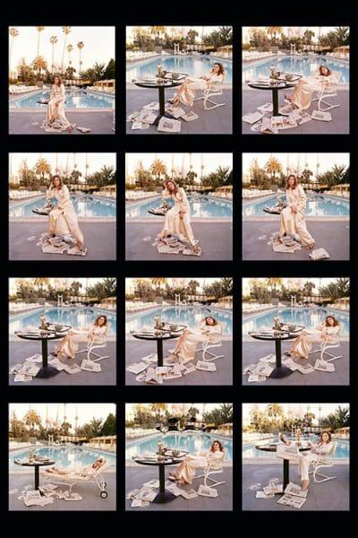 Faye Dunaway (contact sheet), 1977