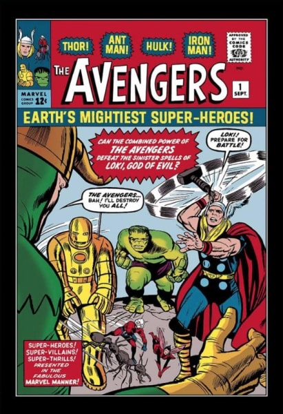 The Avengers #1 - Earth's Mightiest Superheroes! (canvas)