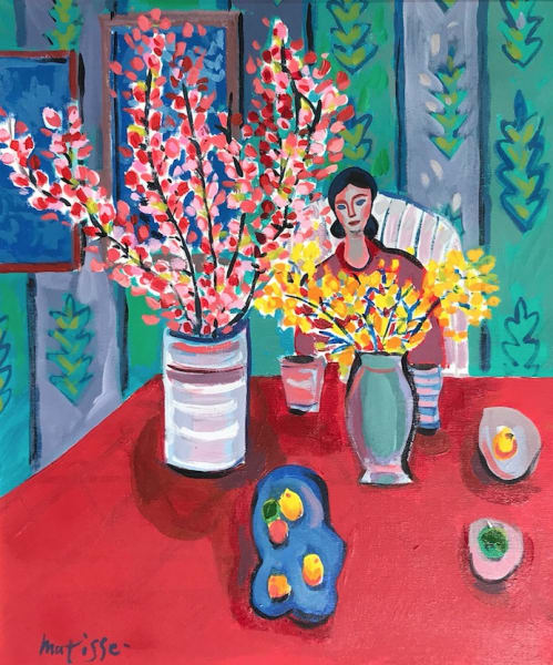 Woman with Flowers , 2002