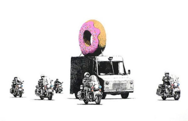 Banksy, Donuts (strawberry), 2009