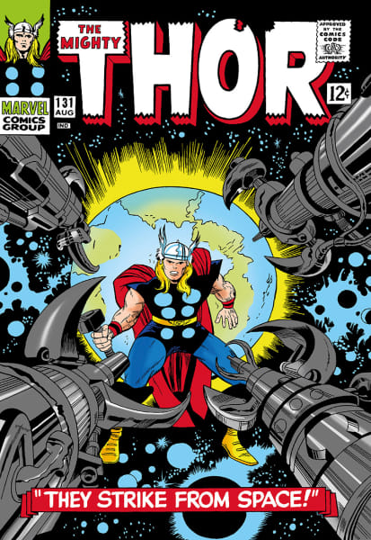 The Mighty Thor #131 - They Strike From Space! (canvas)