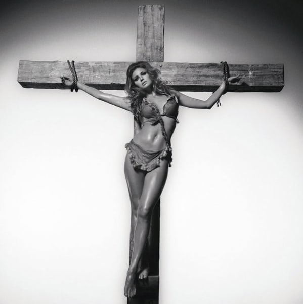 Raquel Welch On The Cross, 1966