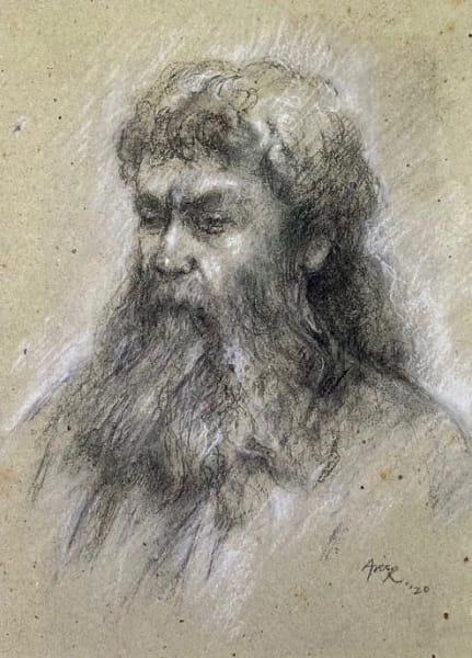 Aris Raissis, Samson (charcoal)