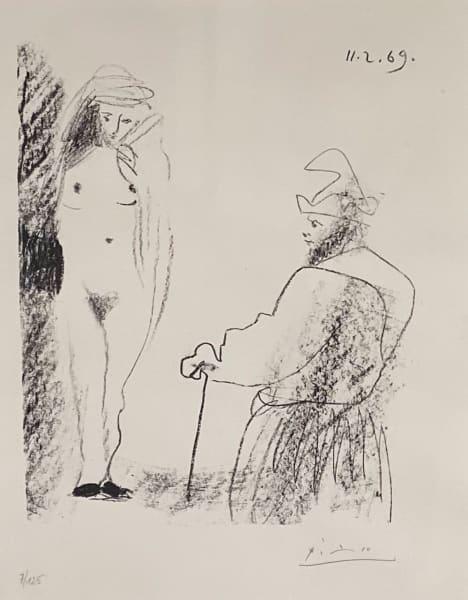 Femme Nue et Homme a la Canne, 1969