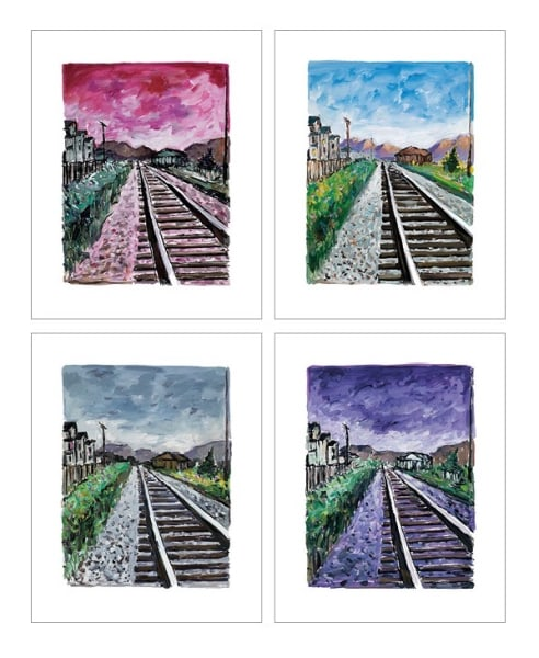 Train Tracks (set of 4), 2018