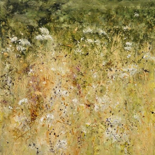 Sally Stafford, 'White Gate', mixed media on canvas, H 100 cm x 100 cm