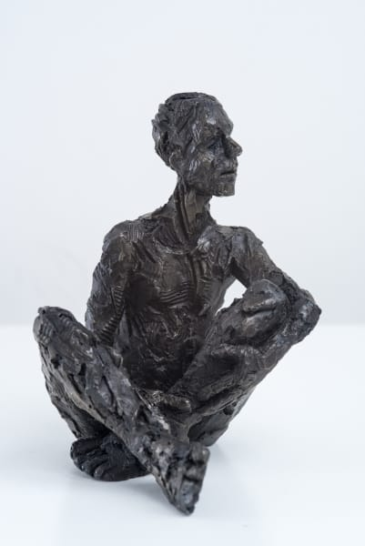 Carol Peace, Seated Male Figure 1