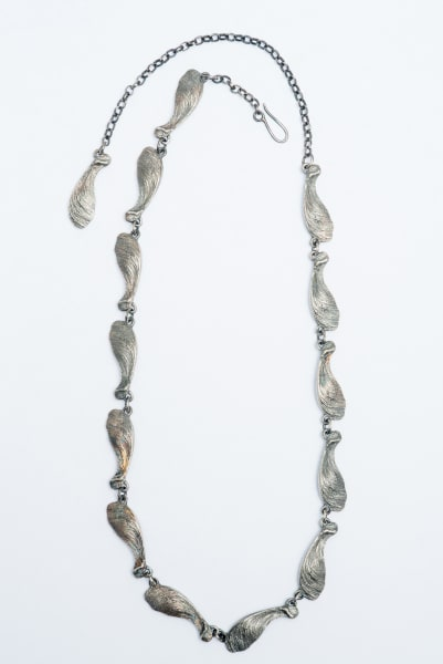Lucy Jade Sylvester, Linked Sycamore Seedhead necklace