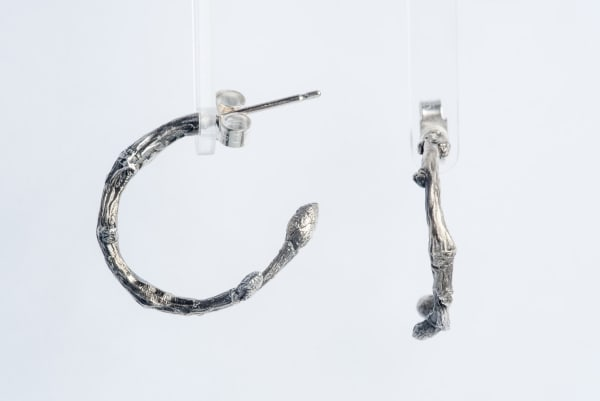 Lucy Jade Sylvester, Twig Hoop Earrings