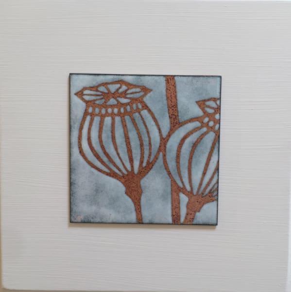 Janine Partington, Poppy Seed Head, Small panel