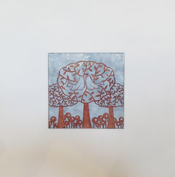 Janine Partington, Bird and Tree, Medium panel