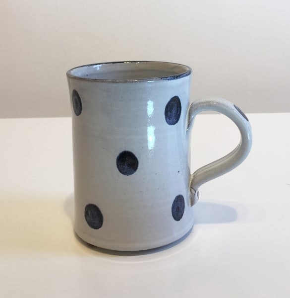 Tydd Pottery, Blue Spots On White, Mug
