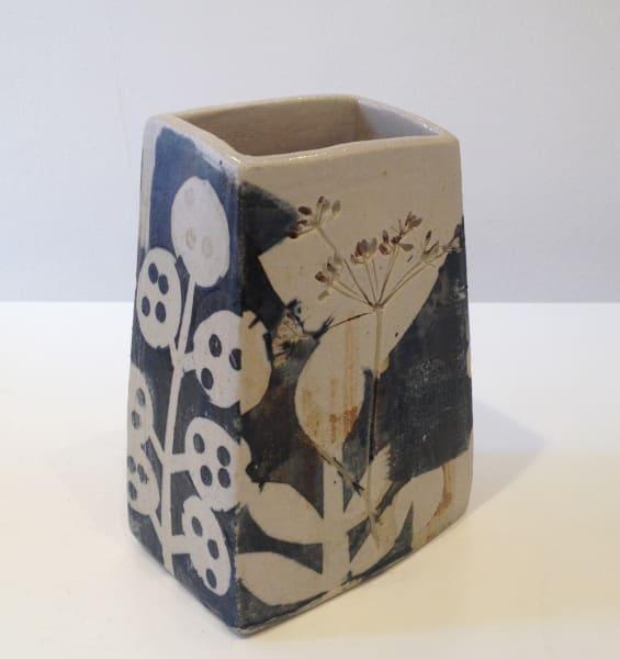Black and White Square Vase