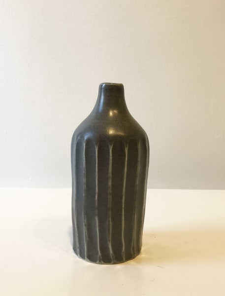 Small Dark Grey, Ridged Bottle