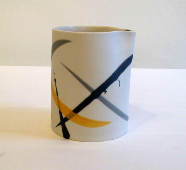 Jug - Mustard & Grey Lines
