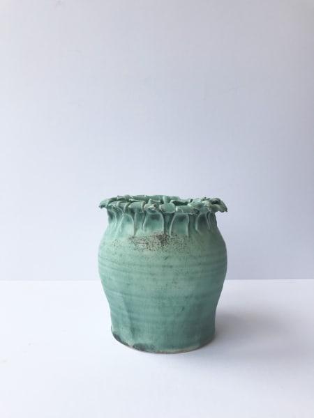 Emma Jagare, Verdigris Green Onion Top Vase, Medium, 2019