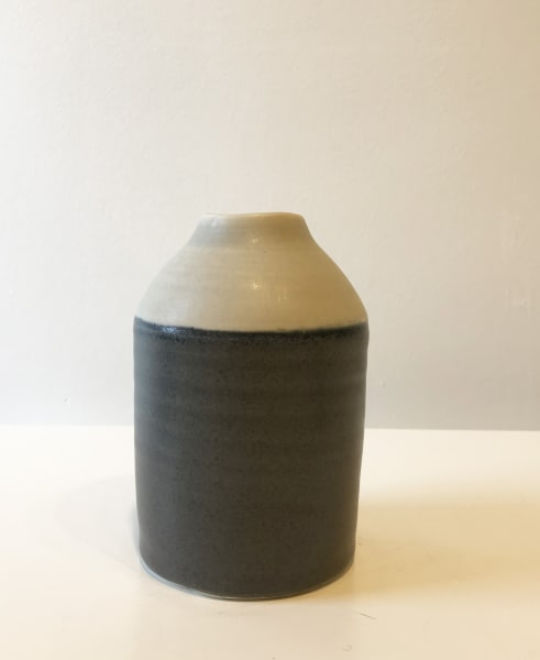 Wide Grey Two-Tone Bottle