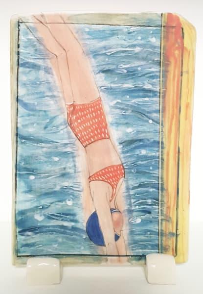 Clare Nicholls, Dive (Red Bikini), 2020