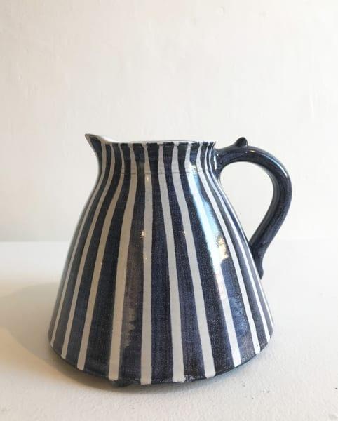 Blue and White Stripes, Medium Jug
