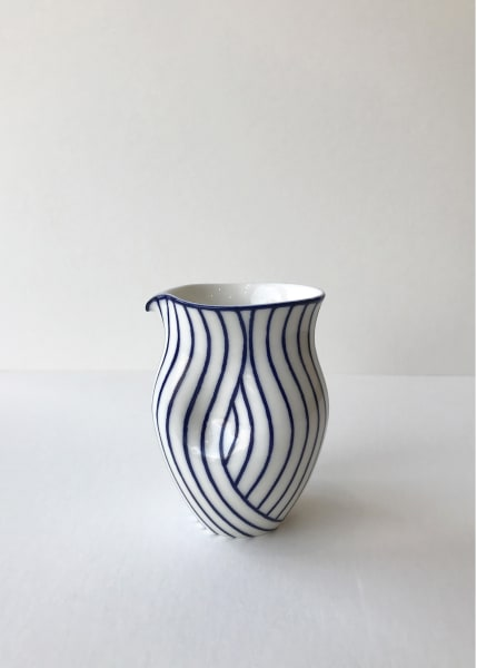 Rhian Malin, Layered Lines Round Dimpled Jug, Small