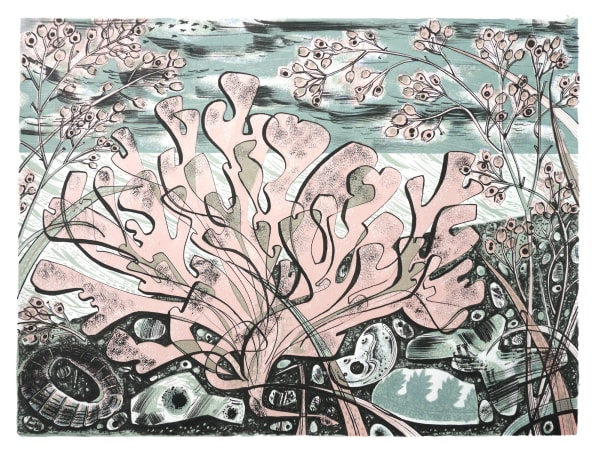 Angie Lewin, Stormy Beach
