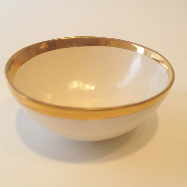 Treasure Bowl with Gold Rim