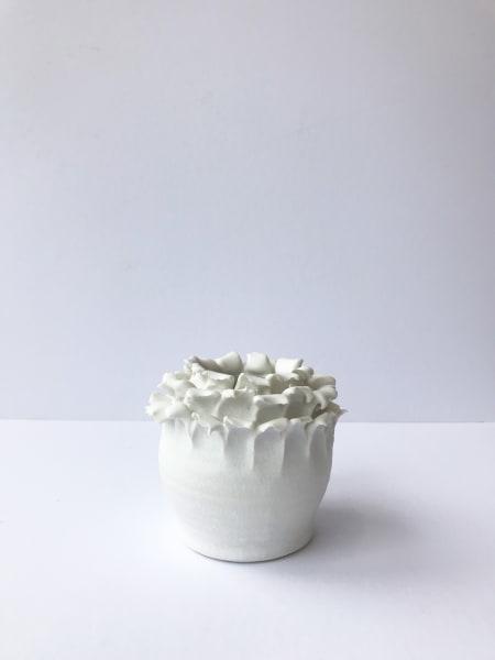 Emma Jagare, Small White Onion Top Vase, 2019