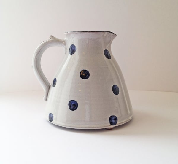 Tydd Pottery, Jug - Spots, Blue on White - Medium , 2019