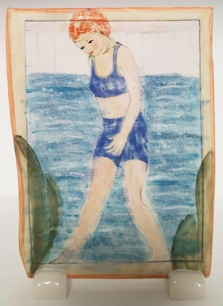 Clare Nicholls, By The Seaside (Blue Bikini), 2020