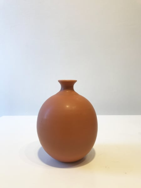 Warm Orange Oval Vessel, Small