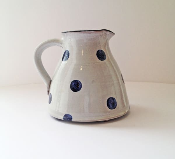 Tydd Pottery, Jug - Spots, Blue on White - Small