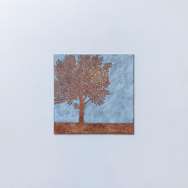 Tree in Field, Medium panel