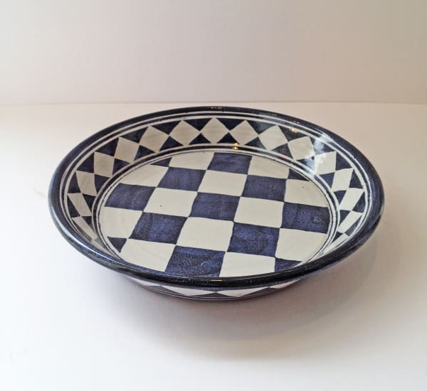 Tydd Pottery, Platter - Small Checkerboard, 2019