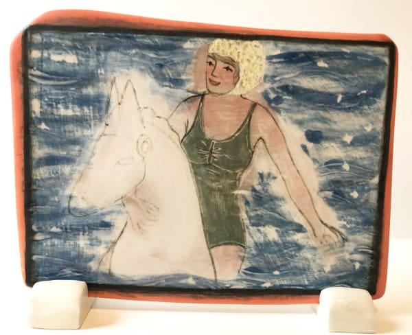 Clare Nicholls, Seaside Fun (Green Swimsuit), 2020
