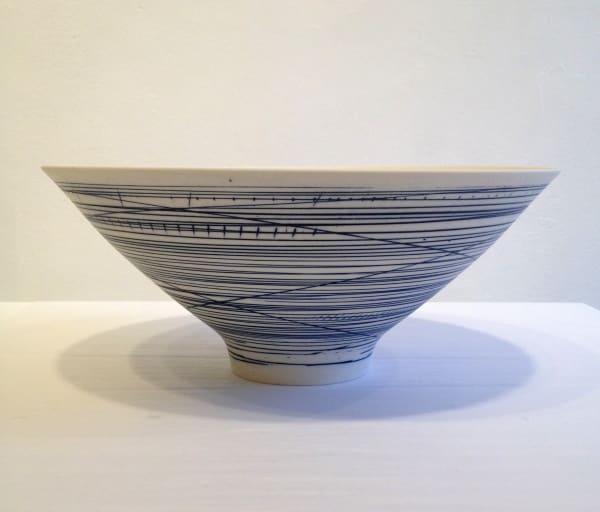 Large Bowl - Blue Lines