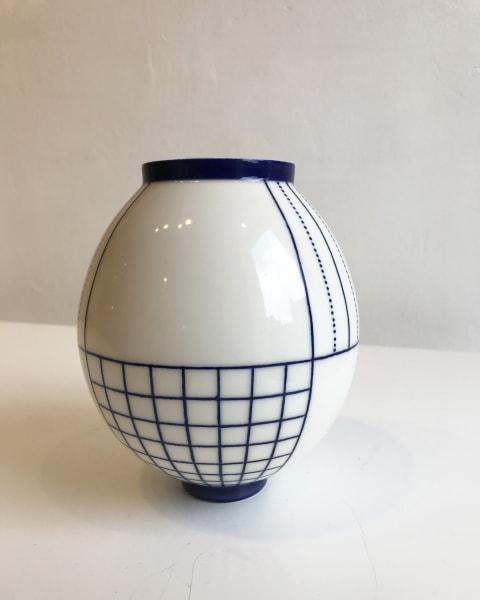 Geometric Moon Jar, Large
