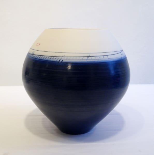 Oval Vase - Blue